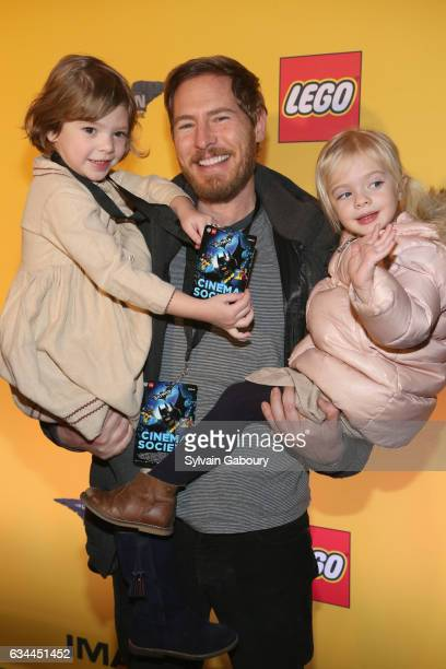 Olive Barrymore Kopelman Will Kopelman and Frankie Barrymore Kopelman attend 'The Lego Batman Movie' Special Screening on February 9 2017 in New York...