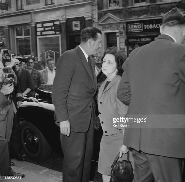 Olive Brooker housekeeper to British showgirl and model Christine Keeler outside Marlborough Street Magistrates Court London 13th September 1963...