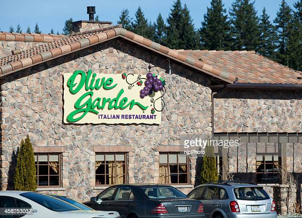 olive garden restaurant - olive garden stock photos and pictures