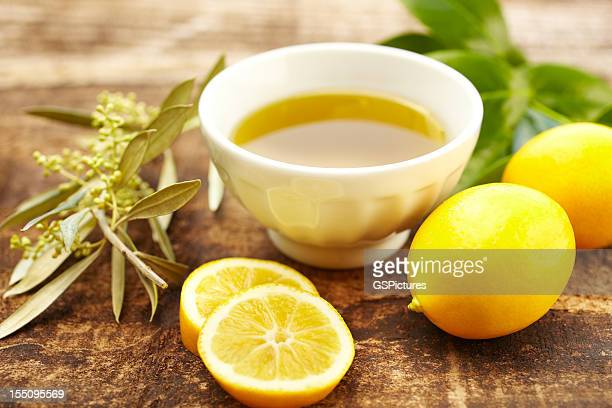Olive oil and lemon spa treatment at a luxury resort