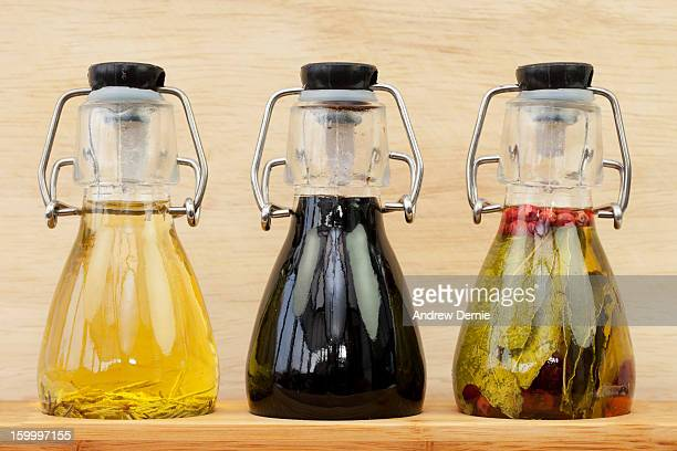 olive oil and vinegar - andrew dernie stock pictures, royalty-free photos & images