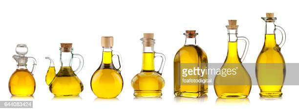 olive oil bottles collection - olive oil stock pictures, royalty-free photos & images