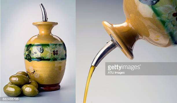 Olive oil cruet double
