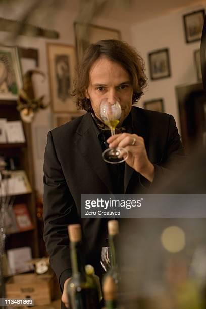 Olive oil salesperson