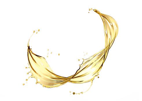 Olive or engine oil splash 1000830698