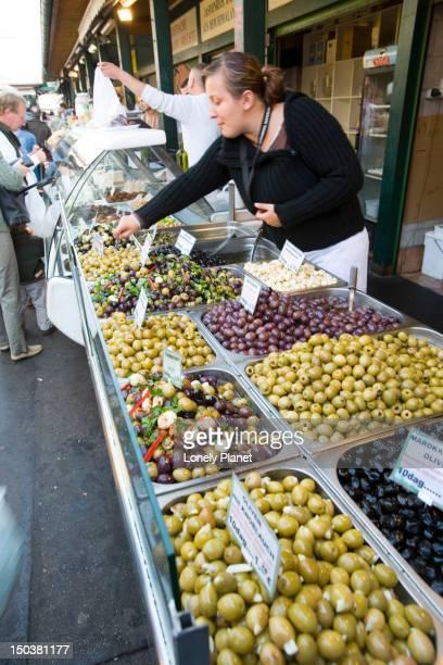 Olive seller, Naschmarkt.