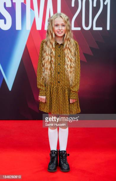 """Olive Tennant attend the """"Belfast"""" European Premiere during the 65th BFI London Film Festival at The Royal Festival Hall on October 12, 2021 in..."""