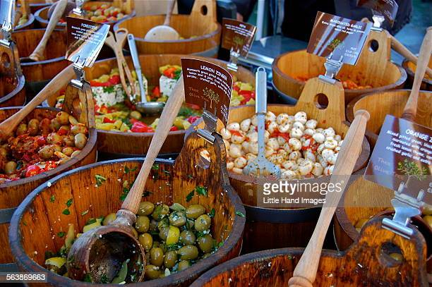 olive vendor - kalamata olive stock pictures, royalty-free photos & images