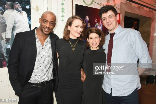 Oliver AlvinWilson Anna Madeley Jemima Rooper and John Dagleish attend the press night after party for 'A Midsummer Night's Dream' at The Young Vic...