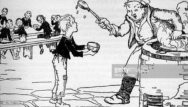 'Oliver Asks For More', 1937. Scene from Oliver Twist by Charles Dickens, 1871. Oliver Twist causes a sensation in the children's ward of the...