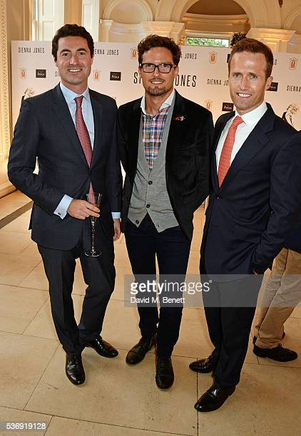 Oliver Baines, Stephen Bowman and Humphrey Berney of Blake attend the launch of British fashion brand Sienna Jones' debut collection 'The Marina...
