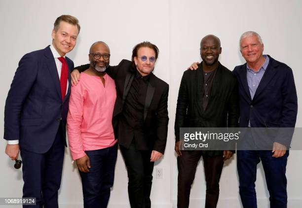 Oliver Barker Theaster Gates Bono David Adjaye and Larry Gagosian attend The Auction with Theaster Gates Sir David Adjaye and Bono in collaboration...