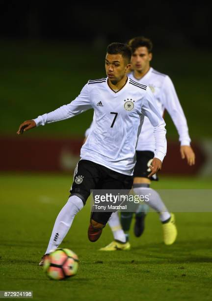 Oliver Batista Meier of Germany during the International Match between Germany U17 and Portugal U17 at St Georges Park on November 11 2017 in...