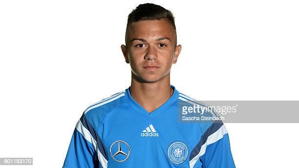 Oliver Batista Meier poses during the Germany U16 Team Presentation on September 9 2016 in Kamen Germany