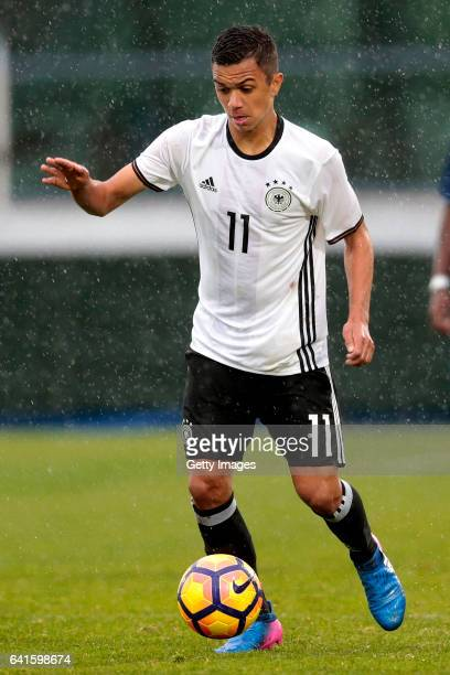 Oliver BatistaMeier of Germany during the UEFA Development Tournament Match between Germany U16 and France U16 on February 11 2017 in Vila Real Santo...