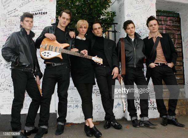 Oliver Bennett Andrew Knott Ruta Gedmintas Nick Blood William Payne and Daniel Healy pose outside Abbey Road Studios on September 1 2011 in London...