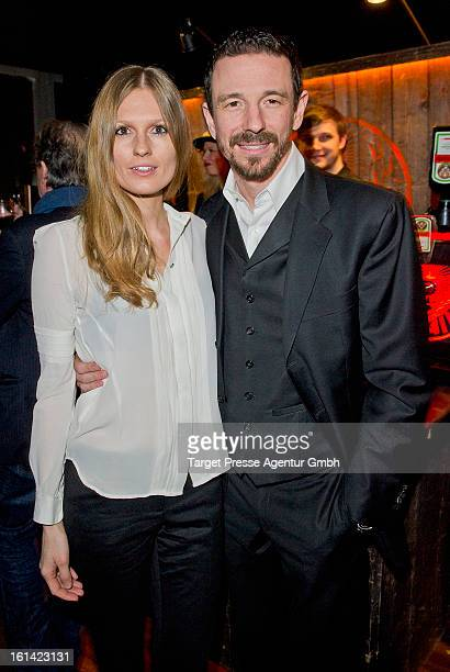 Oliver Berben and his partner Katrin Kraus attend the Constantin film reception at Puro Lounge during the 63rd Berlinale International film Festival...