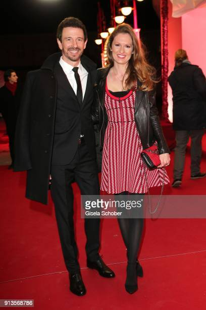 Oliver Berben and his wife Katrin Berben during Michael Kaefer's 60th birthday celebration at Postpalast on February 2 2018 in Munich Germany