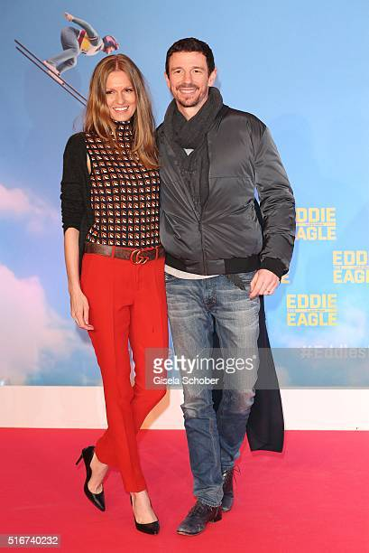 Oliver Berben and his wife Katrin Berben during the 'Eddie the Eagle' premiere at Mathaeser Filmpalast on March 20 2016 in Munich Germany