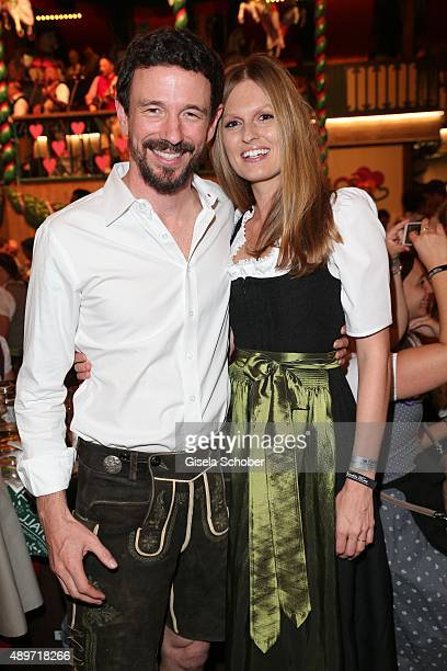 Oliver Berben and his wife Katrin Berben during the Oktoberfest 2015 at Marstall tent at Theresienwiese on September 23 2015 in Munich Germany