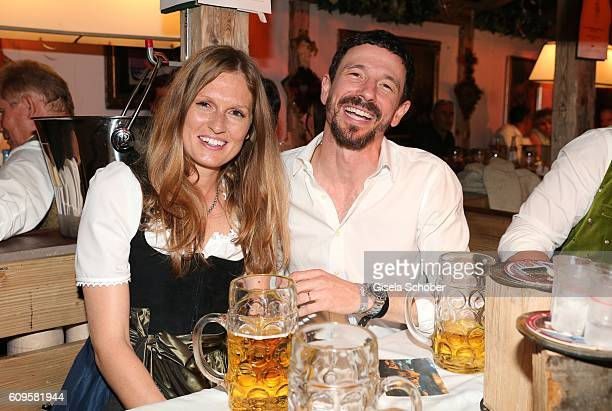 Oliver Berben and his wife Katrin Berben during the Oktoberfest at Kaeferschaenke / Theresienwiese on September 21 2016 in Munich Germany