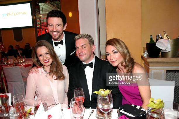 Oliver Berben and his wife Katrin Berben Sebastian Bezzel and Lisa Maria Potthoff during the German Film Ball 2018 party at Hotel Bayerischer Hof on...