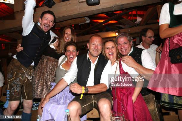 Oliver Berben and his wife Katrin Heino Ferch and his wife Marie Jeanette Ferch Julia and Thomas Friedl during the Oktoberfest 2019 opening at...