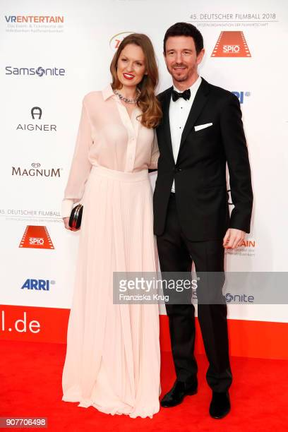 Oliver Berben and Katrin Kraus attend the German Film Ball 2018 at Hotel Bayerischer Hof on January 20 2018 in Munich Germany
