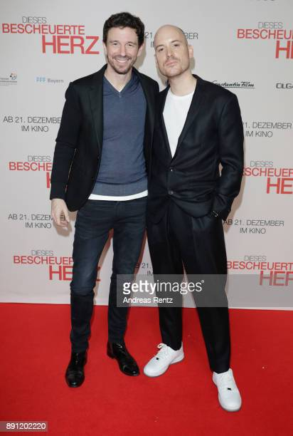 Oliver Berben and Lars Amend attend the 'Dieses bescheuerte Herz' premiere on December 12 2017 in Berlin Germany
