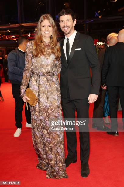 Oliver Berben and wife Katrin attend the 'Django' premiere during the 67th Berlinale International Film Festival Berlin at Berlinale Palace on...