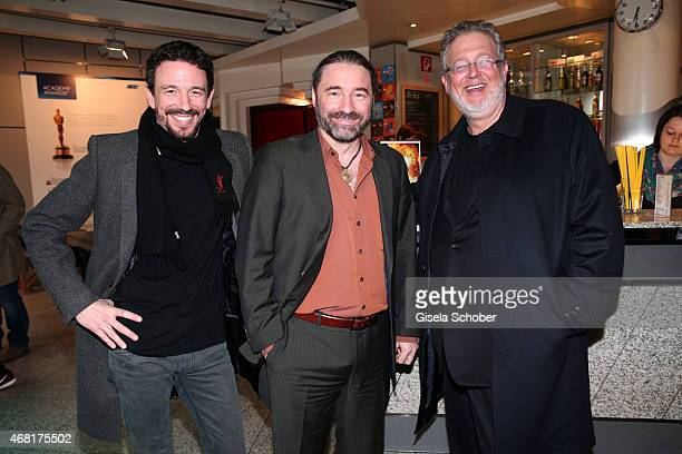 Oliver Berben Director Tommy Krappweis and Martin Moszkowicz CEO Constantin Film during the Munich premiere of the film 'Mara und der Feuerbringer'...