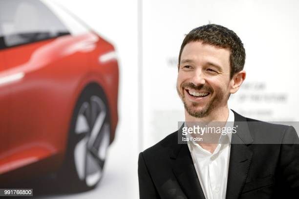 Oliver Berben during the exhibition preview of 'Driving Vizzions to Reality' at DRIVE Volkswagen Group Forum on July 4 2018 in Berlin Germany