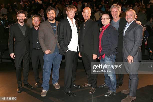 Oliver Berben, Fabian Busch, director David Wnendt, Oliver Masucci, Christoph Maria Herbst, Timur Vermes, writer, producer Christoph Mueller and Lars...