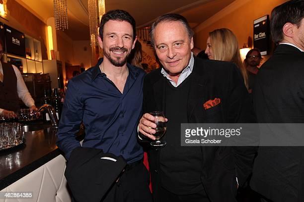 Oliver Berben Gero von Boehm producer attend the premiere of the film 'Der Clan Die Geschichte der Familie Wagner' at Gloria Palast on January 15...