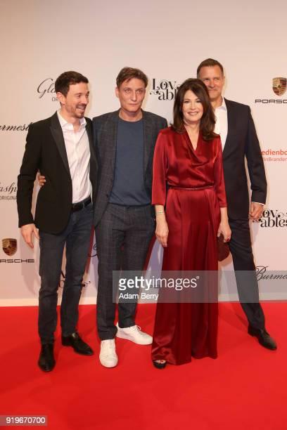 Oliver Berben, Oliver Masucci, Iris Berben and her boyfriend Heiko Kiesow attend the Medienboard Berlin-Brandenburg Arrivals during the 68th...