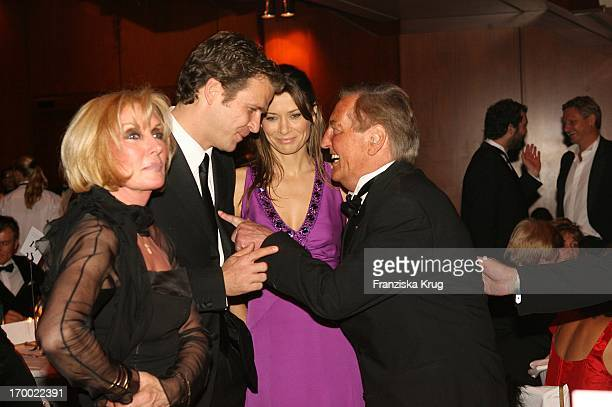 Oliver Bierhoff and his wife Clara with Gerhard MayerVorfelder and wife Margit The 24th German Sports Press Ball In The Old Opera House in Frankfurt