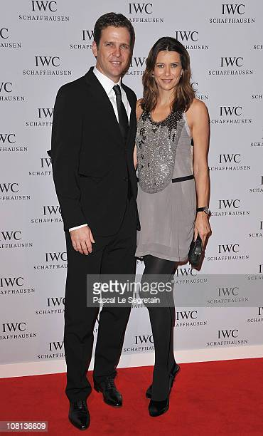 Oliver Bierhoff and his wife Klara attend the IWC launch of the Portofino watch range at the SIHH International Fine Watch makers exhibition on...
