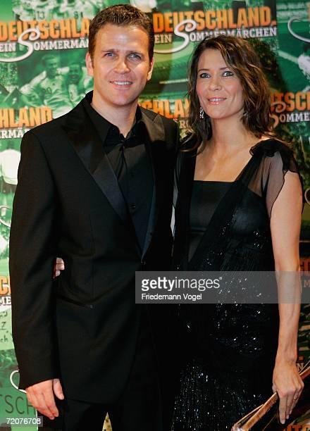 Oliver Bierhoff and his wife Klara Bierhoff attends the premiere of the film Deutschland ein Sommermaerchen at the Berlinale Palast on October 3 2006...
