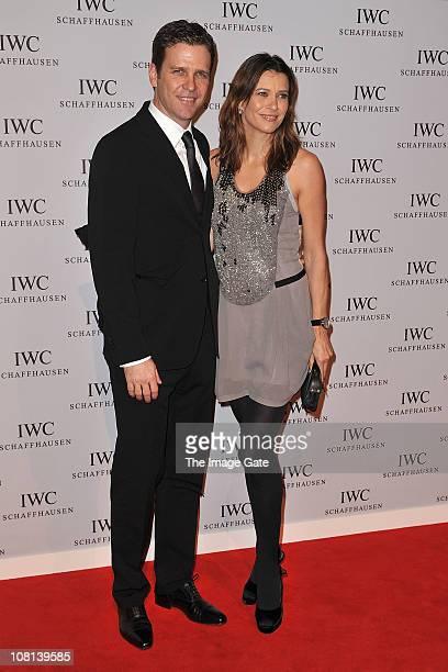 Oliver Bierhoff and Klara Bierhoff attend IWC Schaffhausen an evening in Portofino at Palexpo Hall 1 on January 18 2011 in Geneva Switzerland