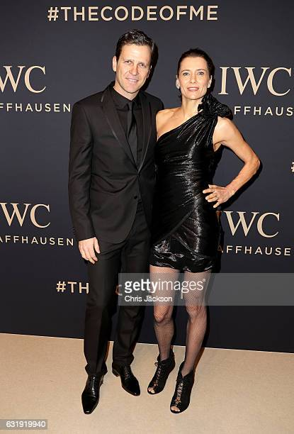 Oliver Bierhoff and Klara Bierhoff attend the IWC Schaffhausen 'Decoding the Beauty of Time' Gala Dinner during the launch of the Da Vinci Novelties...
