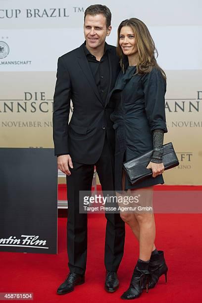 Oliver Bierhoff and Klara Szalantzy attend the 'Die Mannschaft' premiere at Potsdamer Platz on November 10 2014 in Berlin Germany