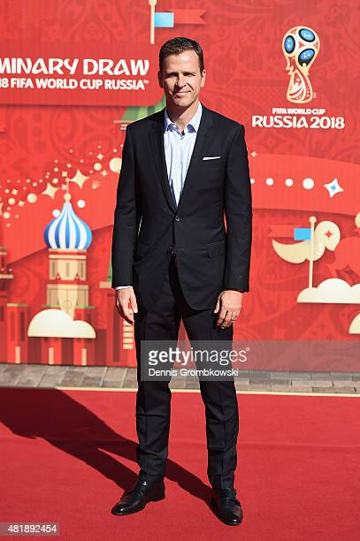 Oliver Bierhoff, manager of the German national team attends the Preliminary Draw of the 2018 FIFA World Cup in Russia at The Konstantin Palace on...