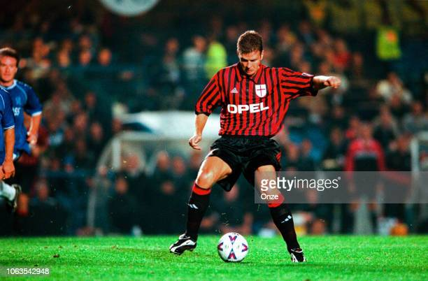Oliver Bierhoff of Milan AC during the UEFA Champions League match between Chelsea and Milan AC at Stamford Bridge London United Kingdom on September...