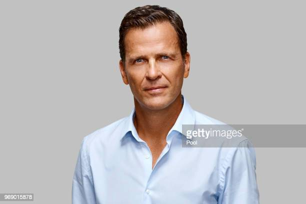 Oliver Bierhoff poses for a photo during a portrait session ahead of the 2018 FIFA World Cup Russia at Eppan training ground on June 5 2018 in Eppan...