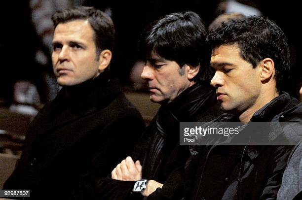 Oliver Bierhoff, team manager of the german football assisation, Joachim Loew, head coach of the german national football team and Michael Ballack...