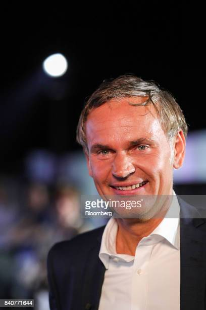 Oliver Blume chief executive officer of Porsche AG attends the launch event for the new Cayenne sport utility vehicle in Stuttgart Germany on Tuesday...