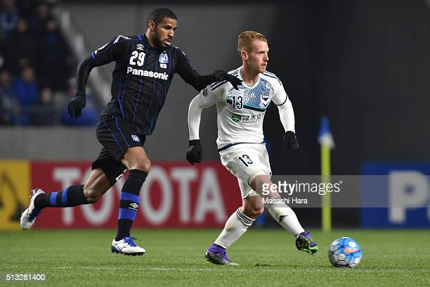 Oliver Bozanic of Melbourne Victory in action during the AFC Champions League Group G match between Gamba Osaka and Melbourne Victory at Suita City...