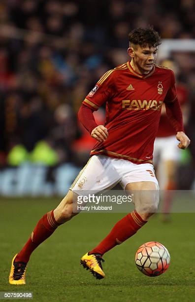 Oliver Burke of Nottingham Forest in action during the Emirates FA Cup Fourth Round match between Nottingham Forest and Watford at the City Ground on...