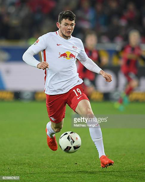 Oliver Burke of RB Leipzig controls the ball during the Bundesliga match between SC Freiburg and RB Leipzig at SchwarzwaldStadion on November 25 2016...