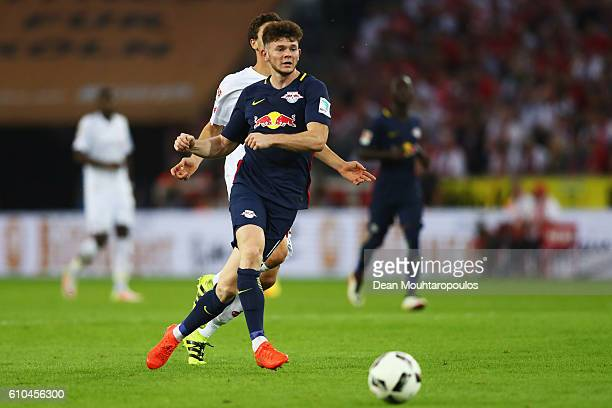 Oliver Burke of RB Leipzig in action during the Bundesliga match between 1 FC Koeln and RB Leipzig at RheinEnergieStadion on September 25 2016 in...
